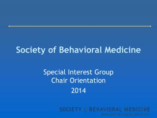Society of Behavioral Medicine