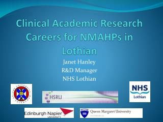 Clinical Academic Research Careers for NMAHPs in Lothian
