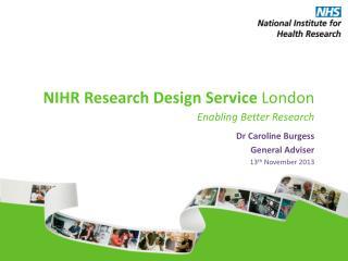 NIHR Research Design Service  London