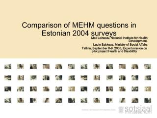 Comparison of MEHM questions in Estonian 2004 surveys