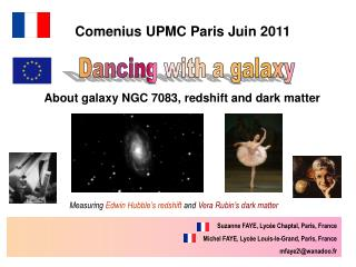 About galaxy NGC 7083, redshift and dark matter