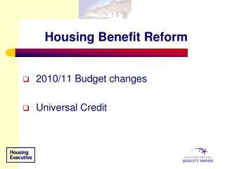 Housing Benefit Reform