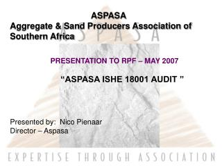 ASPASA Aggregate & Sand Producers Association of Southern Africa