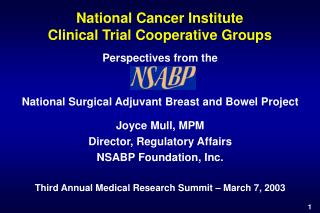 National Cancer Institute  Clinical Trial Cooperative Groups
