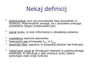 Nekaj definicij