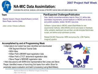 Stephen Aylward, Kitware (Data/Software) (contact) Steve Pieper, Isomics (Data)