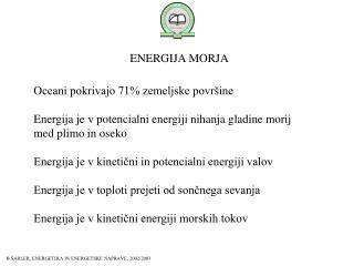ENERGIJA MORJA