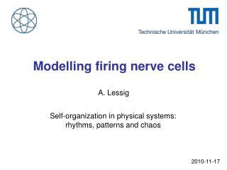 Modelling firing nerve cells