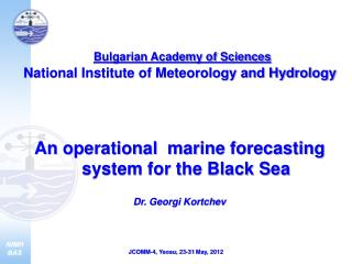Bulgarian Academy of Sciences  National Institute of Meteorology and Hydrology