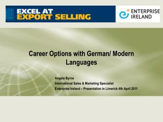 Career Options with German/ Modern Languages