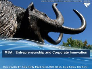 MBA:  Entrepreneurship and Corporate Innovation