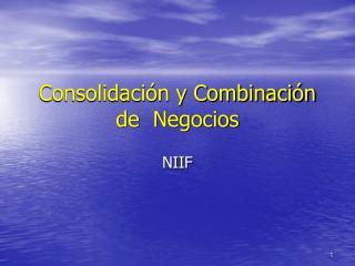 Consolidación y Combinación de  Negocios
