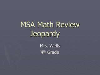 MSA Math Review Jeopardy