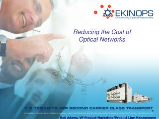 Reducing the Cost of Optical Networks