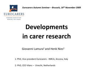Developments  in carer research