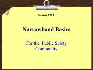 Narrowband Basics