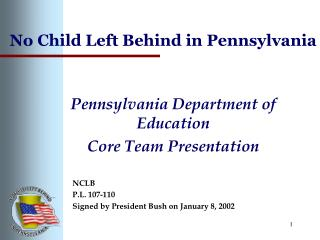 No Child Left Behind in Pennsylvania