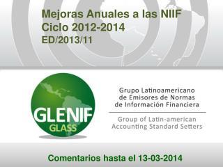 Mejoras Anuales a las NIIF Ciclo 2012-2014 ED/2013/11