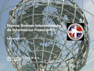 Nuevas Normas Internacionales de  Información Financiera