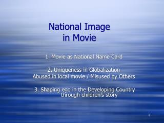 National Image in Movie