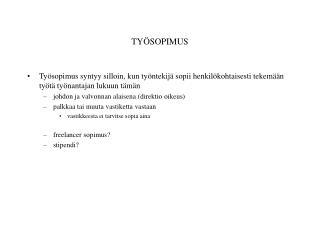 TY ÖSOPIMUS