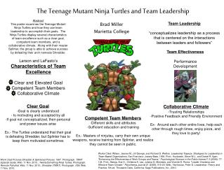 The Teenage Mutant Ninja Turtles and Team Leadership