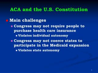 ACA and the U.S. Constitution