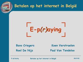Betalen op het internet in België