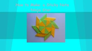 How to Make a Sticky Note Ninja Star