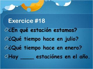 Exercice  #18
