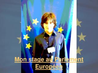 Mon stage au Parlement Europ�en