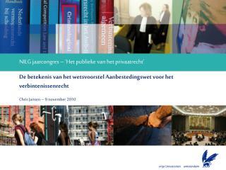 NILG jaarcongres – 'Het publieke van het privaatrecht'
