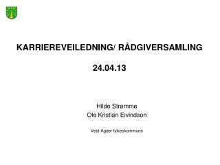 Karriereveiledning/ rådgiversamling 24.04.13