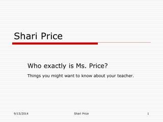 Shari Price