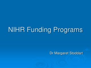 NIHR Funding Programs