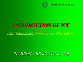 INTRODUCTION OF ICC