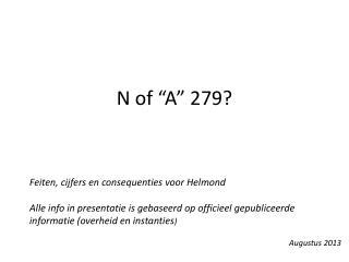 N of �A� 279?