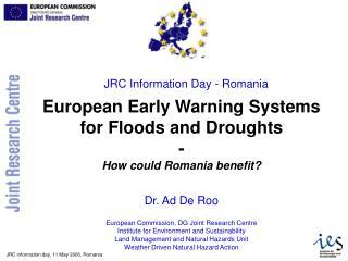 JRC Information Day - Romania