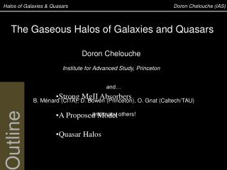 Halos of Galaxies & Quasars	  		                                        Doron Chelouche (IAS)