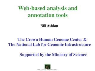 Web-based analysis and annotation tools