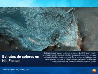 Estratos de colores en Nili Fossae