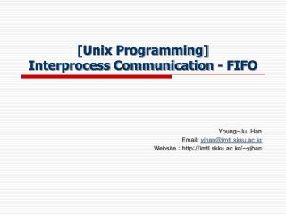 [Unix Programming] Interprocess Communication - FIFO