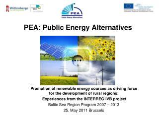 PEA: Public Energy Alternatives