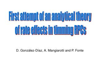 First attempt of an analytical theory  of rate effects in timming RPCs