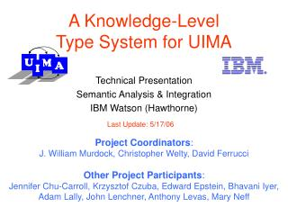 A Knowledge-Level Type System for UIMA