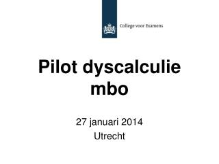 Pilot dyscalculie mbo