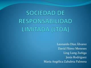 SOCIEDAD DE RESPONSABILIDAD LIMITADA (LTDA)