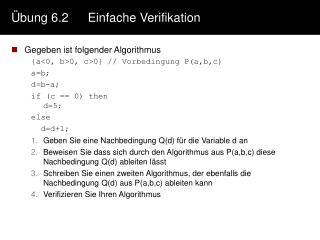 Übung 6.2Einfache Verifikation