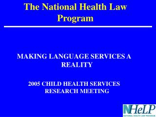 The National Health Law Program