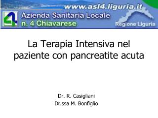 La Terapia Intensiva nel paziente con pancreatite acuta